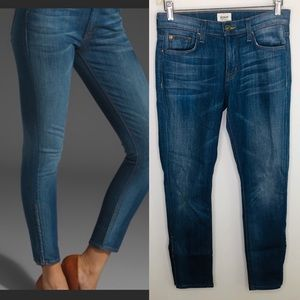 Hudson Nico Crop Ankle Zipper Medium Wash 25